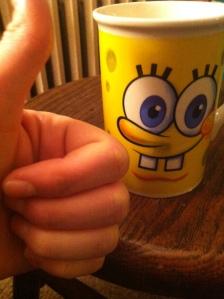 Cup of milk achieved, safe in a Spongebob Squarepants mug