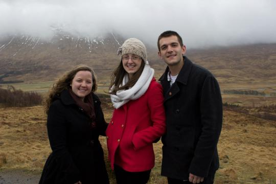 The 3 of us in the Highlands of Scotland!